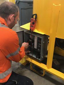 Electric Powered Pump testing
